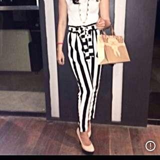 B&w Stripes Trousers