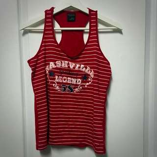 Red And White Striped Singlet