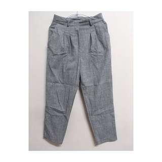 Dazzling 灰色 側邊隱形拉鍊 西裝褲 老爺褲