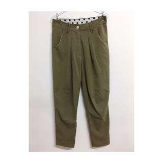 軍綠色 老爺褲 長褲