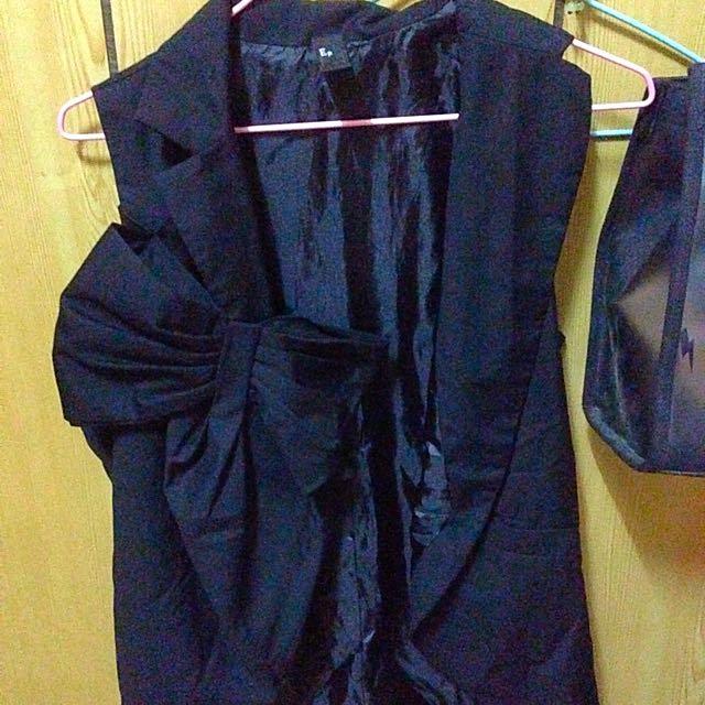 黑色蝴蝶結 襯衫 背心 罩衫 外套