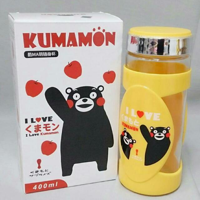 熊本熊玻璃附把手杯