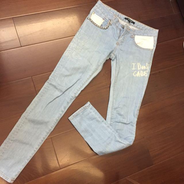 清倉亂賣✅淺藍牛仔褲