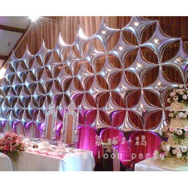 四角鋁箔氣球 /情人節 錫箔汽球 生日派對 教室 佈置 婚禮 裝飾