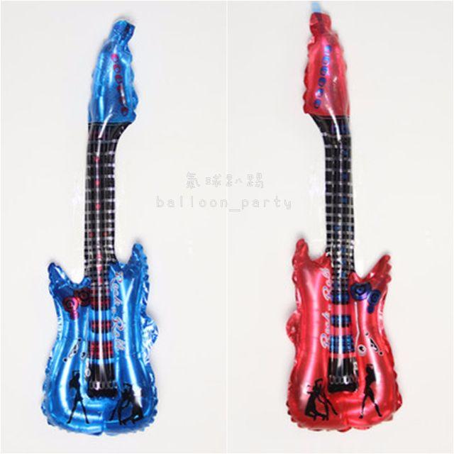 吉他造型 鋁膜氣球 /音樂會  錫箔汽球 婚禮生日派對 祝賀禮物 佈置 求婚告白
