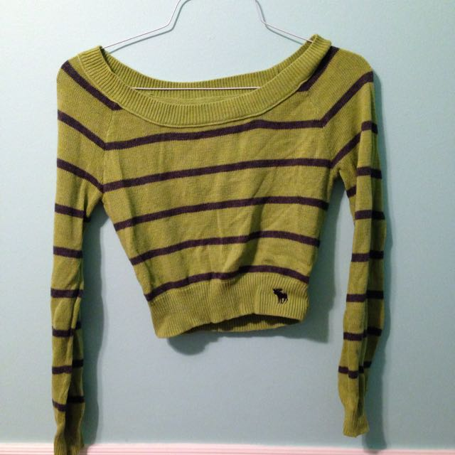 Abercrombie Sweater Crop Top