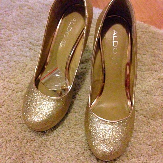 Aldo Gold Heels