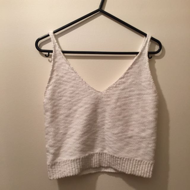 All About Eve Knit Cropped Top