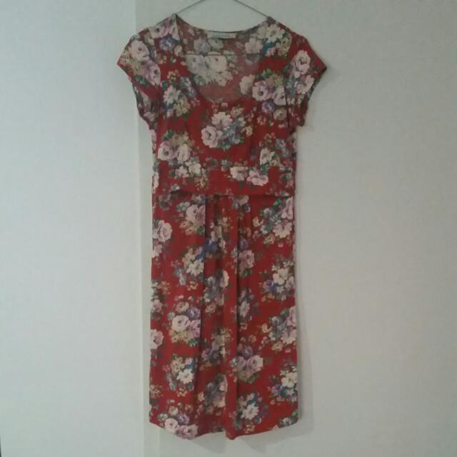 Angle Maternity - Fitted Ponti Nursing Dress. Size S