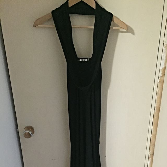 Black Jewelled Evening Gown