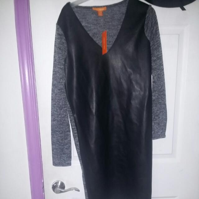 Brand New Leather Asymetrical Dress