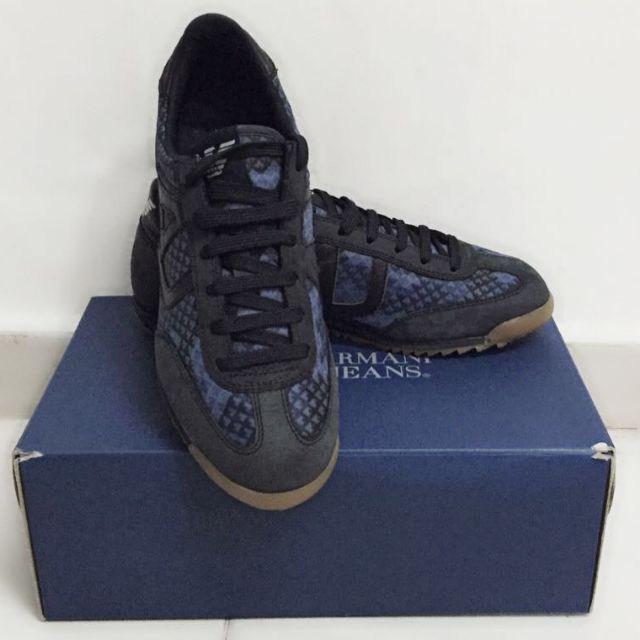 Branded New Us 7 Uk 6 5 Armani Jeans Aj Designer Shoes Sneakers By Giorgio Men S Fashion Footwear On Carou