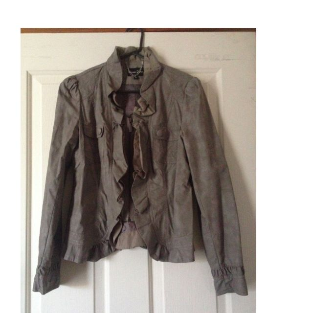 Brown Leather Look Ladies Jacket