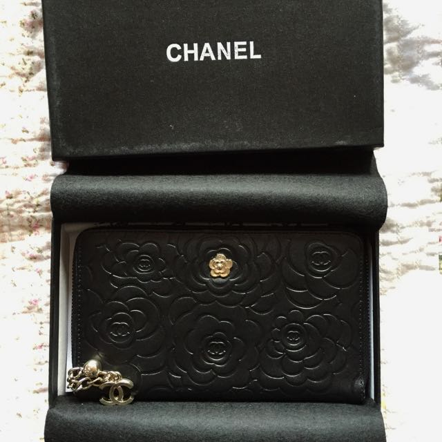 *SALE* Chanel Black Camellia CC Wallet/purse