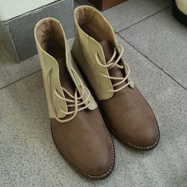 Chocolate Cream Boots Shoes