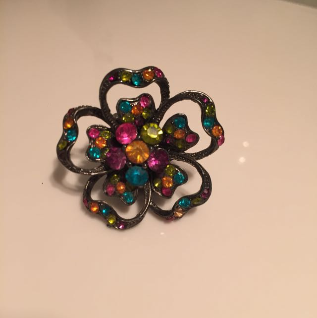Colourful Flower Ring