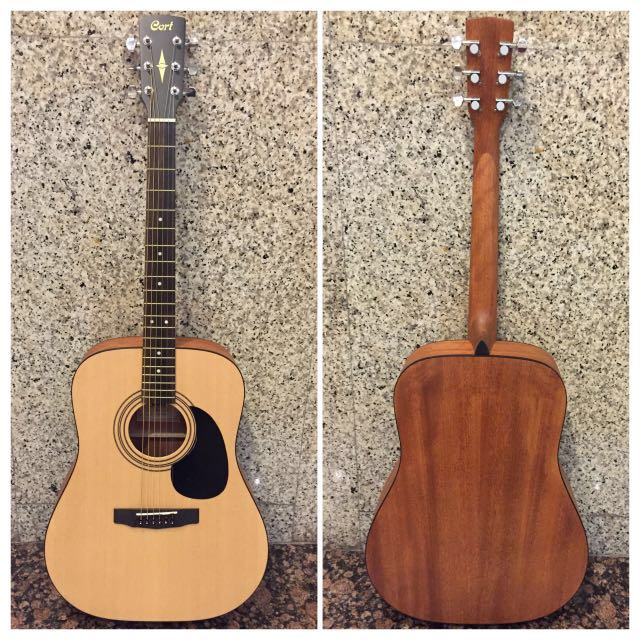 Cort acoustic guitar with clip on auto tunner