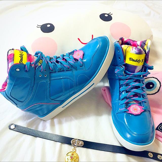 Daddy$ Money Blue & Pink Kicks Sz.8.5