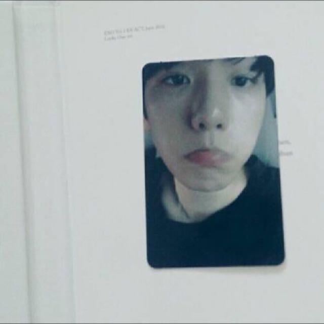 EXO Ex'act 伯賢LUCKY ONE+MONSTER小卡專輯