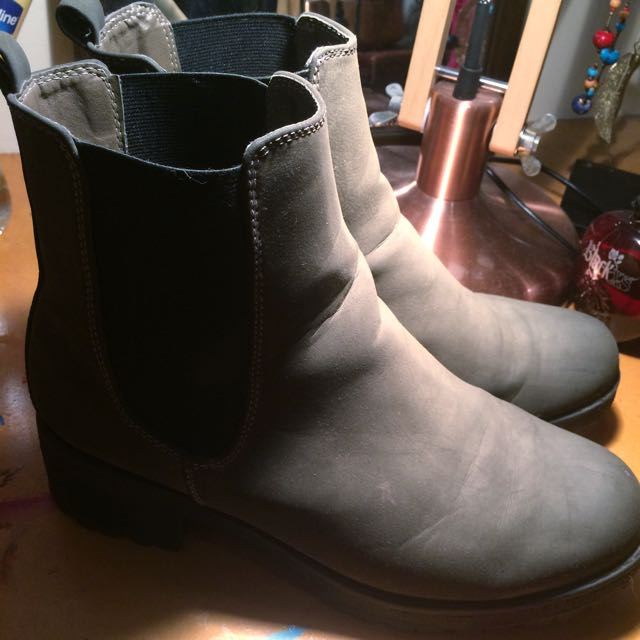Faded Charcoal Blue Boots