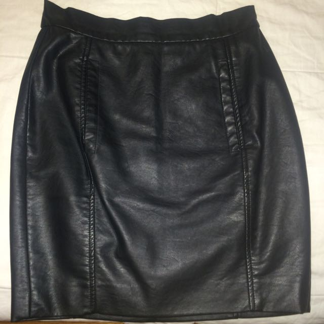 FCUK Faux Leather Skirt