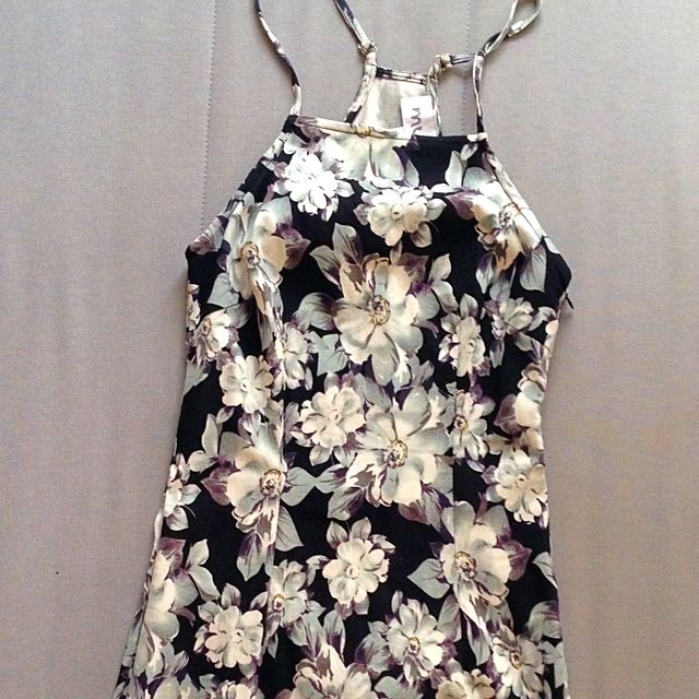 Floral Fitted Mini Dress
