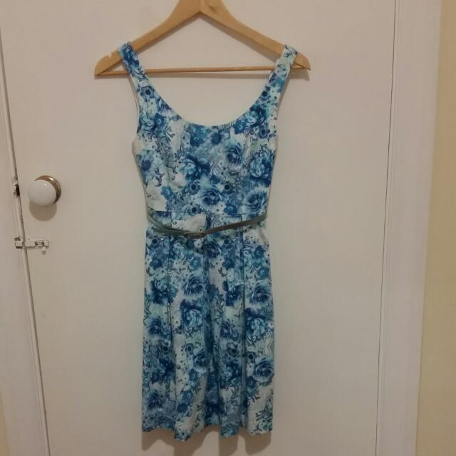 Forever New Blue Floral Dress
