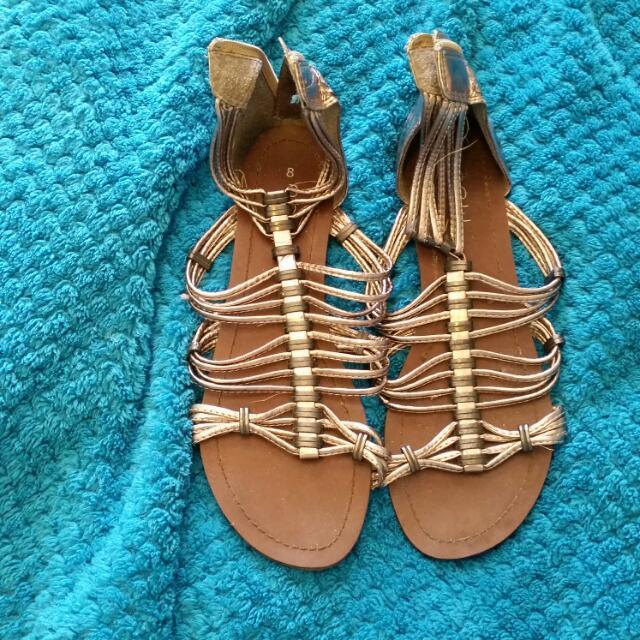 Golden Gladiator Shoes