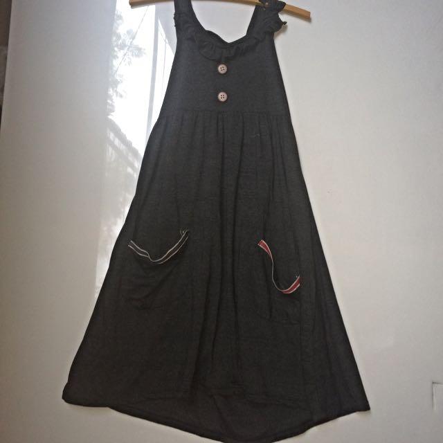Grey Jersey Halter Dress