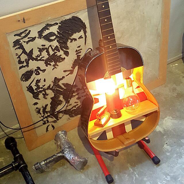 Handmade Upcycled Guitar Shelf