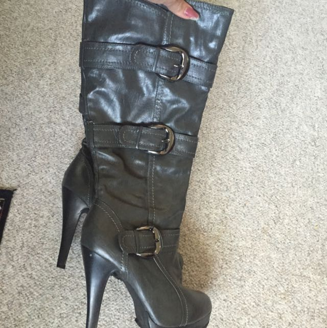 High Heeled Boots Size 8.5