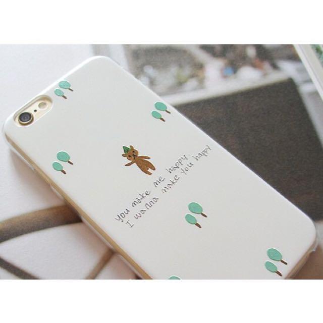 iphone6/6s 小熊浮雕印軟殼