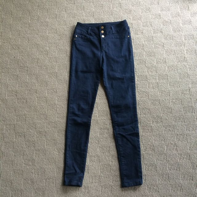 Jay Jays Navy High Waisted Jeans