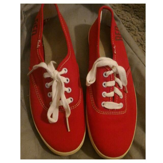 KEDS SHOES RED SIZE 5