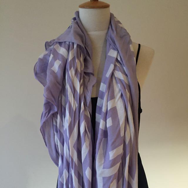 Kookai Soft Fabric Lilac Scarf