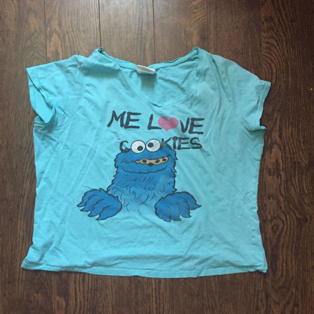 L Cookie Monster Shirt