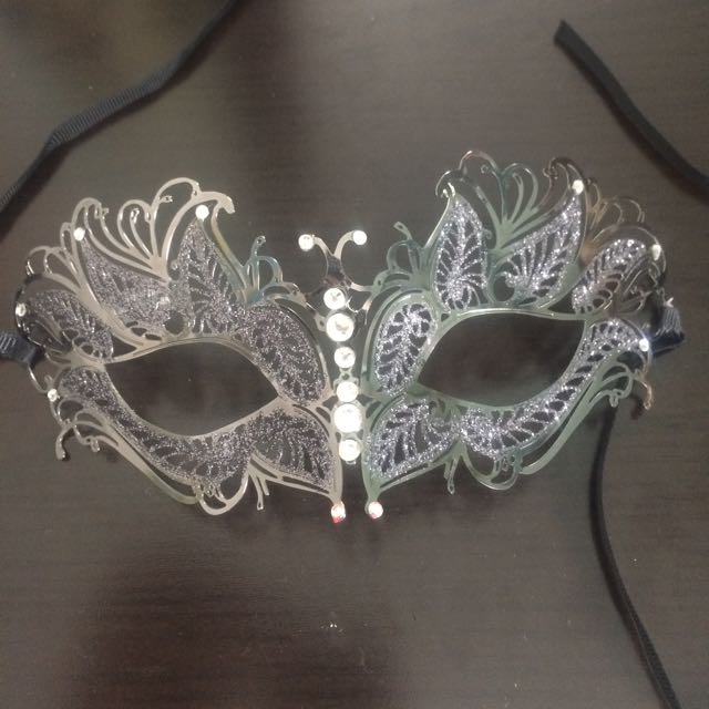 La Senza Dark Grey Masquerade Mask