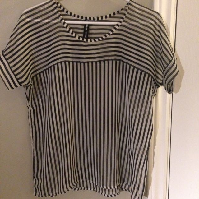 Local Designer Sheer Stripe Top