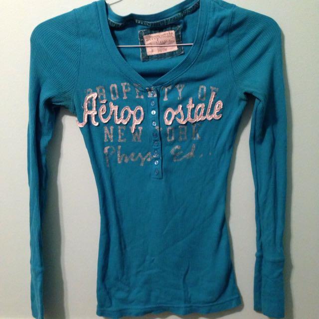 Long Sleeve Blue Shirt