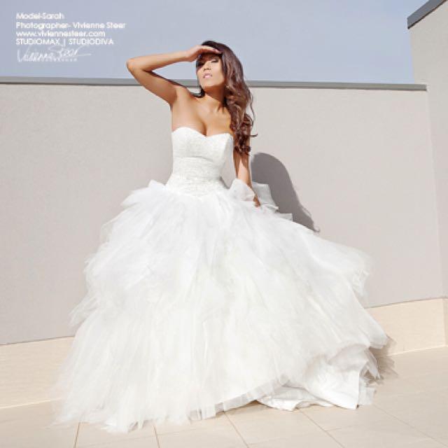 Mia Solano M1099Z Tulle White Ball Gown