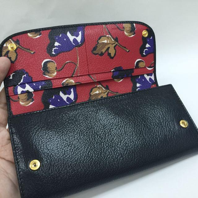 64c13721afa1 ... get miu miu by prada black madras leather long snap wallet 100  authbrand new 5mh109 luxury