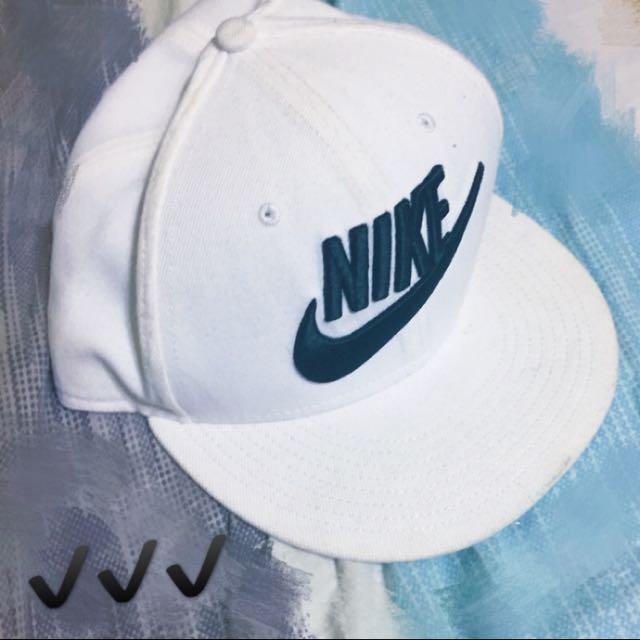 Nike棒球帽 白底黑字 ⚾️