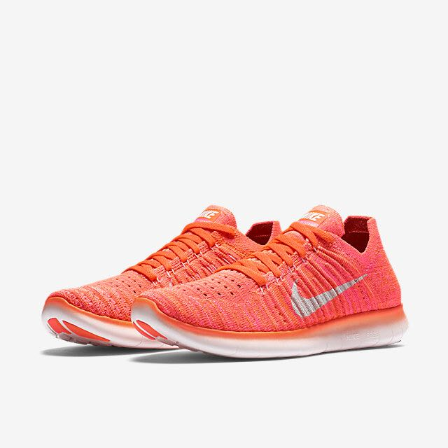 64958c05b5ebf Nike Free RN Flyknit (Women) - Hyper Orange Total Crimson Pink Blast ...