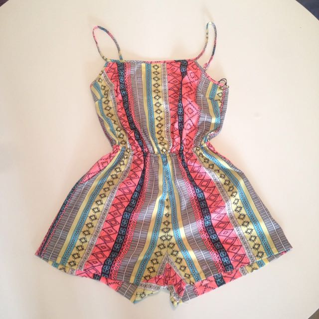 Open Back Play suit Size 8
