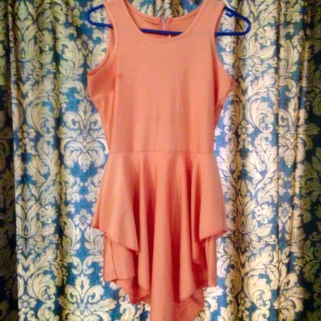 Orange Play Suit With Open Back