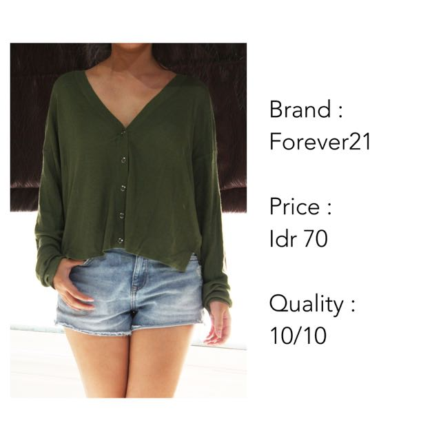 Oversize Green Cardigan (NEW)