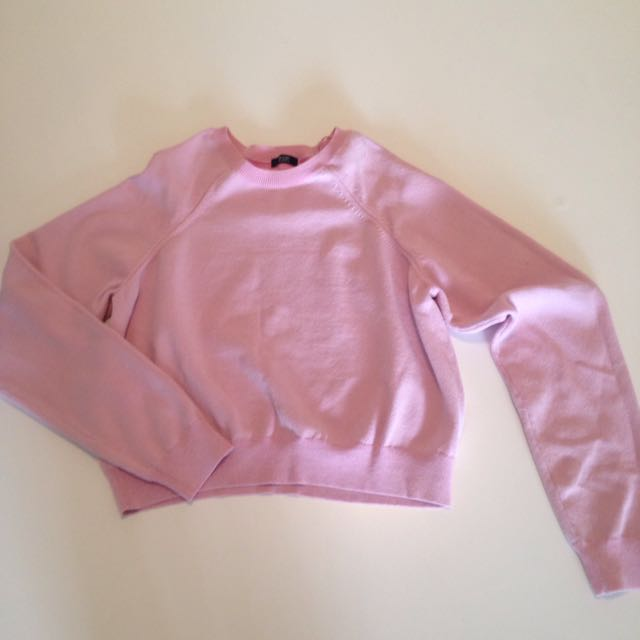 Pink Crop Sweater Size 8