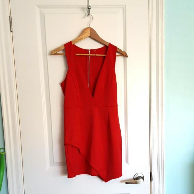 Red Zipup Dress