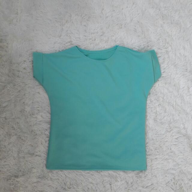 Seafoam Green Textured Top