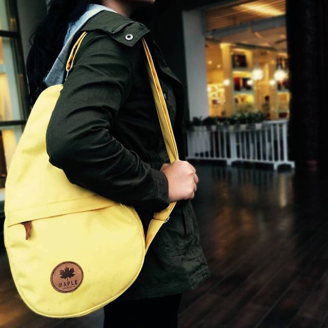 Yellow Sling Bag from MapleID